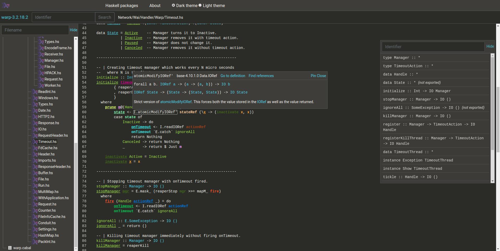 Haskell Code Explorer